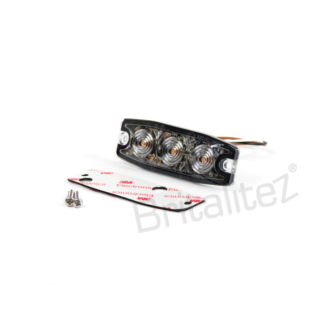 ultra thin 1w grill    direction strobe light  ece r10